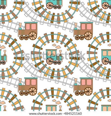 Cute train stock images royalty free images vectors for Fabric with trains pattern