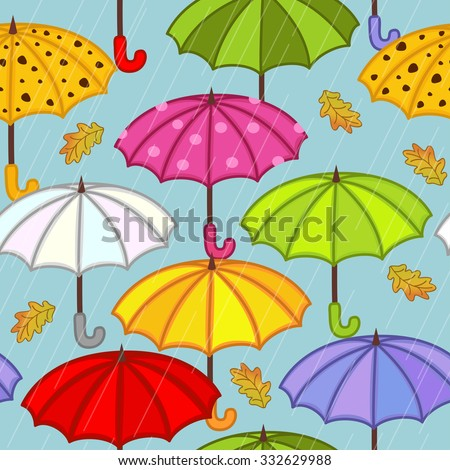 seamless pattern with umbrella - vector illustration, eps
