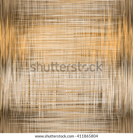 Seamless pattern with vertical and horizontal grunge intersected stripes in brown,white, orange colors - stock vector