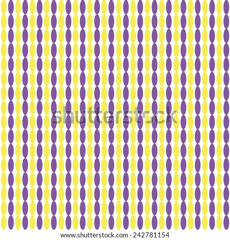 Seamless pattern with vertical ellipses chains - stock vector