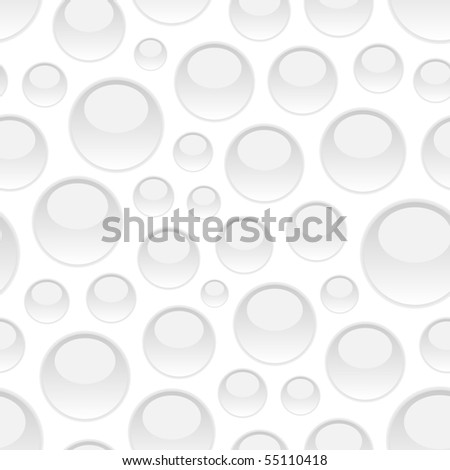 Seamless pattern with water drops. Vector illustration. - stock vector