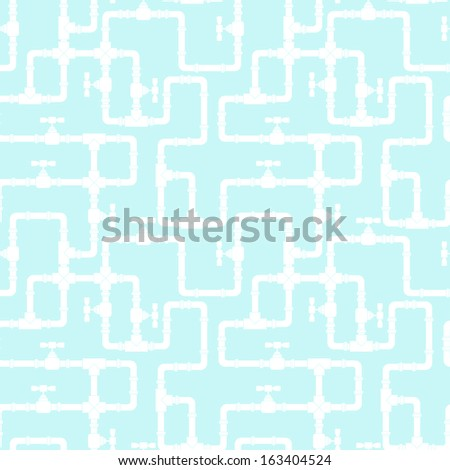 Seamless pattern with water pipeline. - stock vector