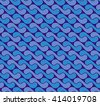 seamless pattern with waves yin yang blue and purple checkerboard alternating colors EPS10 - stock vector