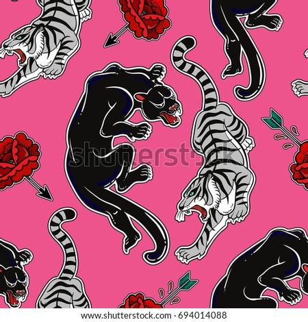 Katja gerasimova 39 s portfolio on shutterstock for Panther tiger tattoo