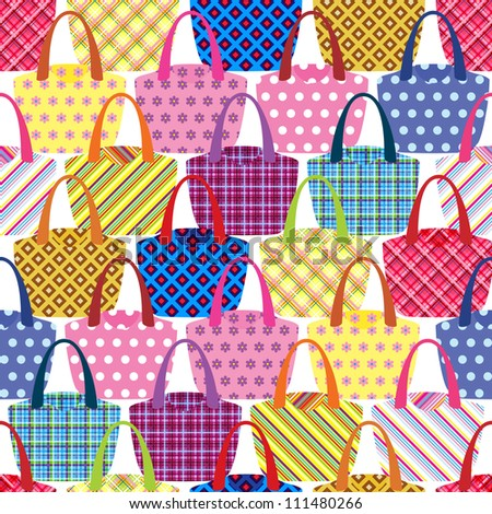 seamless pattern with womens bags