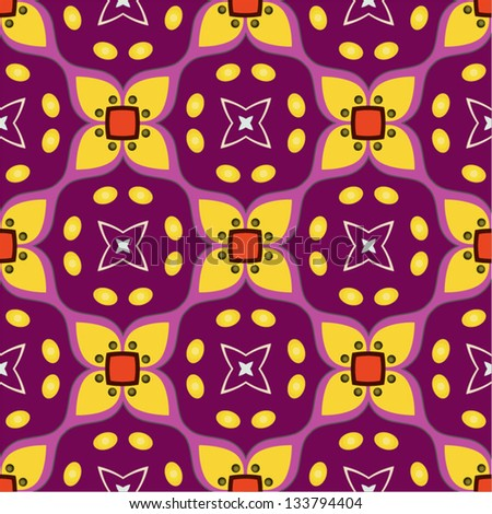 seamless pattern with yellow flowers - stock vector