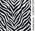 seamless pattern with zebra fur ...