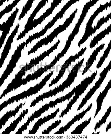 Seamless pattern with zebra stripes. - stock vector