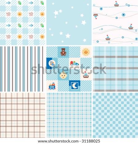 Seamless patterns. - stock vector