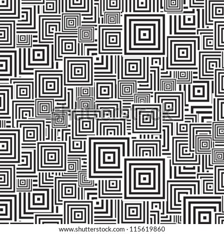 seamless patterns Black   white - stock vector