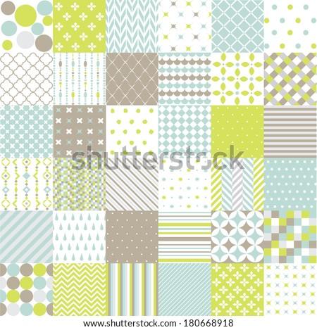 Seamless Patterns - Digital Scrapbook - stock vector
