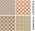 Seamless patterns in islamic style. Vector set - stock vector