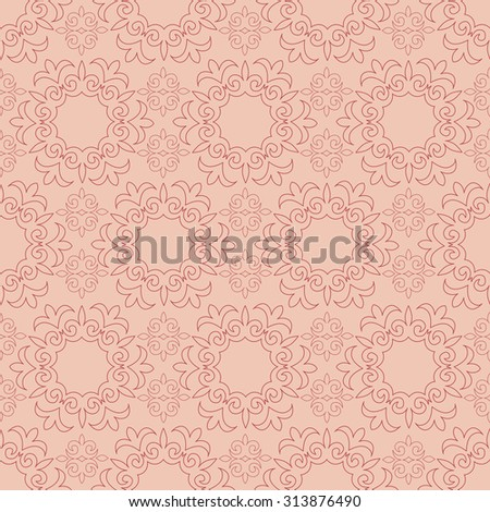 seamless patterns. Kazakh, Asian, floral, floral pattern. Decorative background for greeting cards, invitations, web design. - stock vector