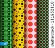 Seamless patterns, polka dots set,�vector Eps 10 illustration. - stock vector