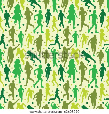 seamless people pattern - stock vector