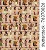 seamless pharaoh pattern - stock vector