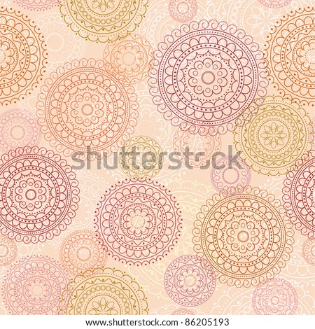seamless pink abstract decorative background - stock vector