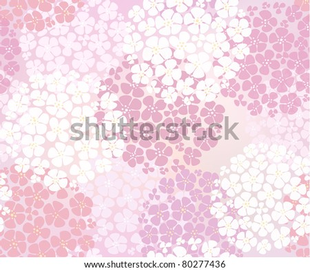Seamless pink abstract floral background - stock vector