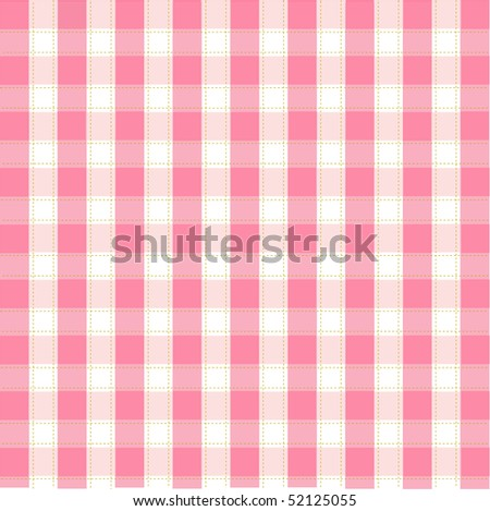 Seamless pink plaid pattern - stock vector