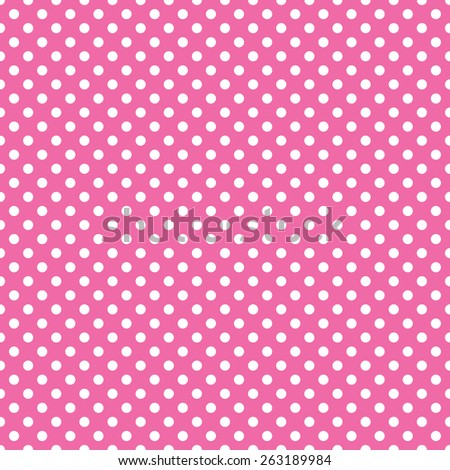 seamless pink polka dot background - stock vector