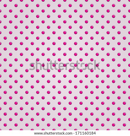 Seamless Pink Polka Dot Background Pattern - stock vector