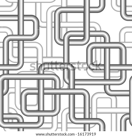 Seamless pipe vector pattern