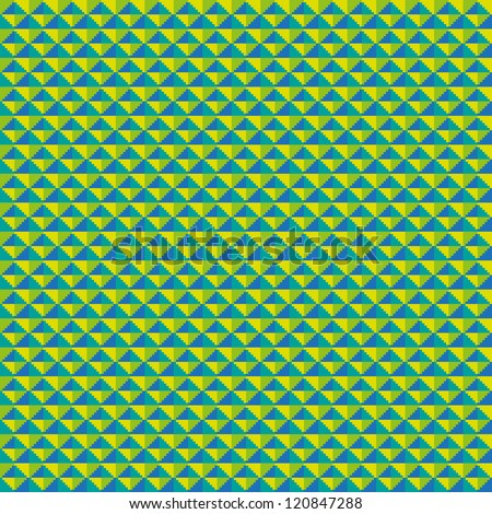 Seamless pixel art background with cubes, vector illustration - stock vector