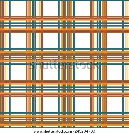 Seamless plaid material vector pattern - stock vector