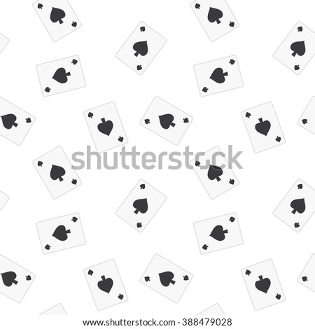 Seamless Playing Cards Spades Suit Pattern Background Tile