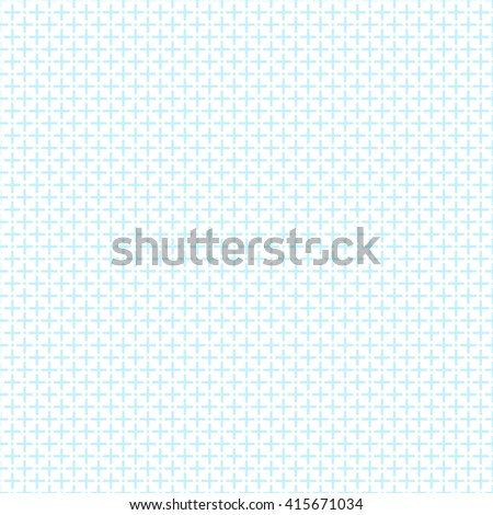 seamless plus sign print pattern, vector illustration - stock vector