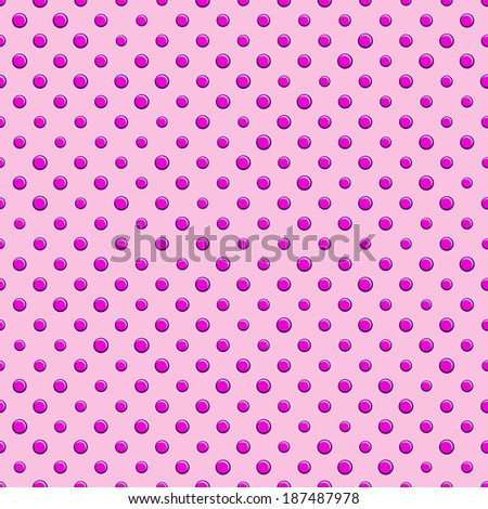 Seamless Polka Dot Background Pattern. Pink Vector Backdrop - stock vector