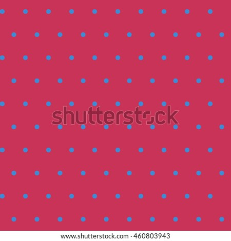 Seamless polka dot blue pattern with circles. Vector illustration. Design element.