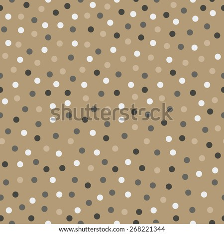 seamless polka dot pattern design. vector illustration - stock vector