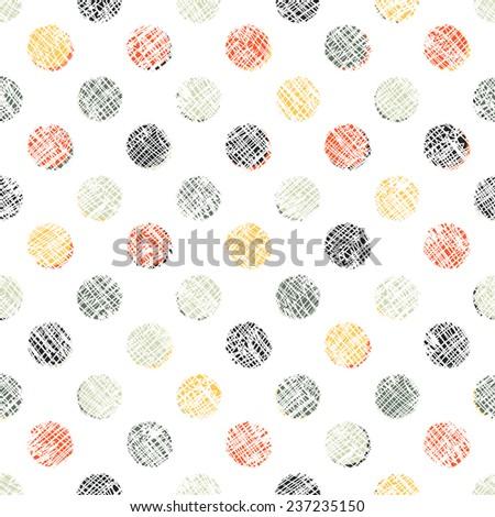 Seamless Polka Dot Pattern Textured - stock vector