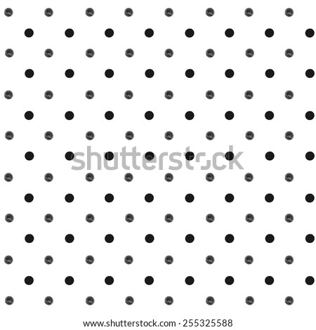 Seamless polka dot pattern with hand drawn ink dots of black and grey shades/ Retro background/ Vector EPS10 - stock vector