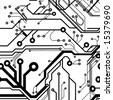 ID:1602091.  Seamless Printed Circuit Board Pattern.  In Lightbox.