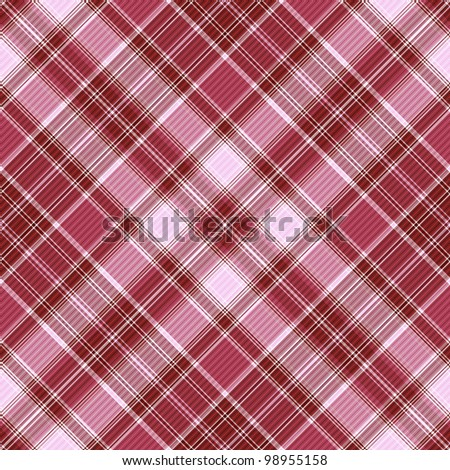 Seamless purple and white-pink cross checkered pattern with diagonal strips (vector EPS 10) - stock vector