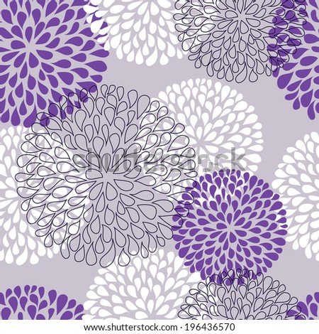 Seamless purple floral abstract background. Vector illustration - stock vector
