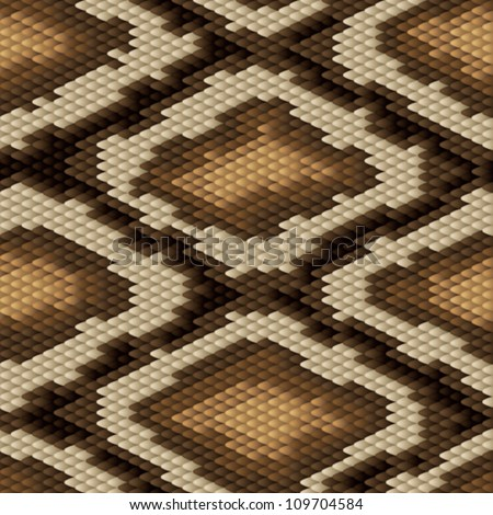 Seamless python snake skin pattern. Vector illustration. - stock vector