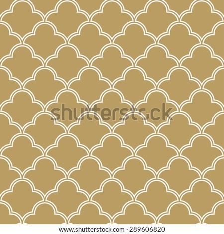 seamless quatrefoil wave pattern. - stock vector