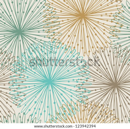 Seamless radial pattern. Netting abstract background - stock vector