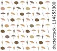 Seamless rainy pattern with umbrellas. Vector illustration - stock vector