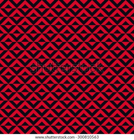 Seamless red and black op art diagonal squares pattern vector