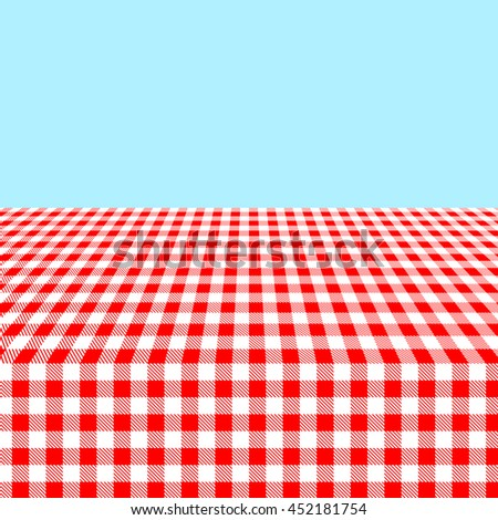 Seamless Red And White Tablecloth Pattern