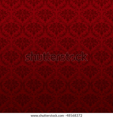 Seamless Red Wallpaper Pattern - stock vector