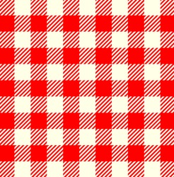Seamless Red White Tablecloth Pattern