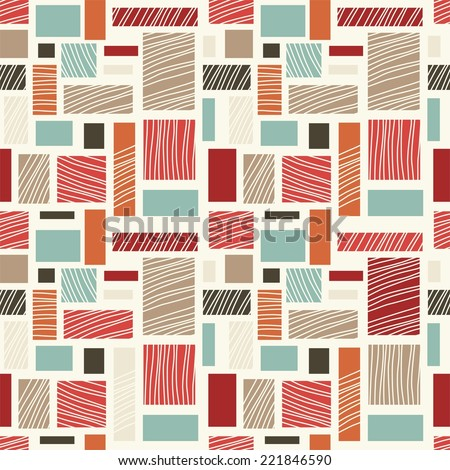 seamless retro abstract colorful pattern - stock vector