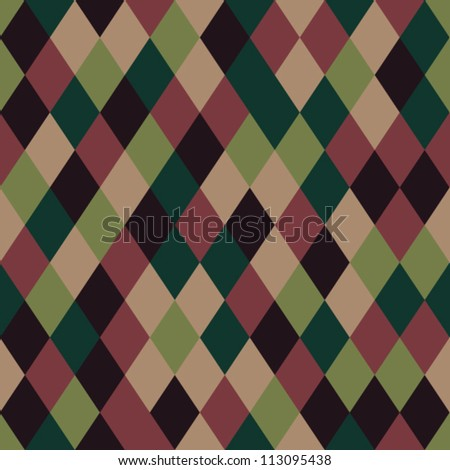 Seamless retro background - stock vector