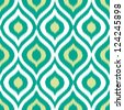 Seamless retro background in modern ikat pattern - stock vector