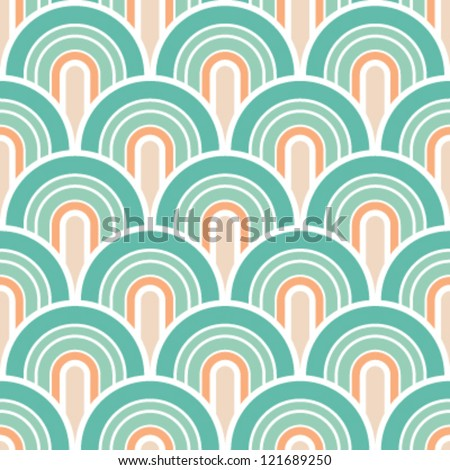 Seamless retro-modern background pattern - stock vector